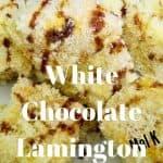 White Chocolate Lamington