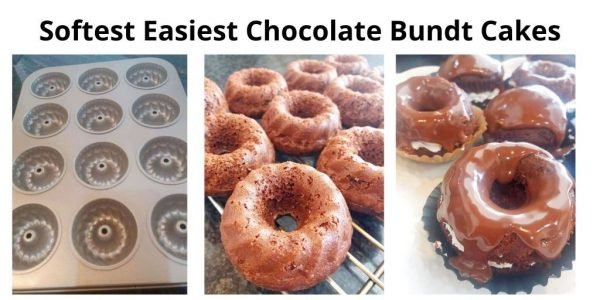 Bundt Pans, and baked Softest Easiest Chocolate Bundt Cakes