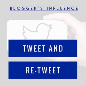 Blogger's Influence Tweet and Retweet Logo