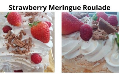 Strawberry Meringue Roulade