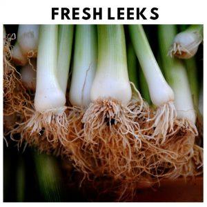 Fresh Leeks Oven Roasted Fresh Vegetables
