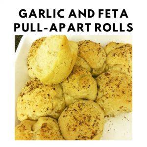Garlic and Feta Pull-Apart Rolls