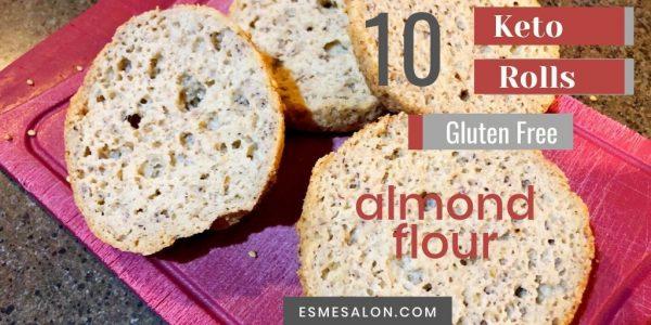 Gluten-Free almond flour keto rolls