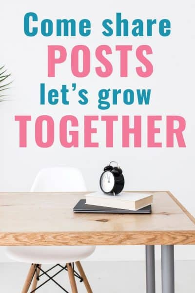 Come share your posts and let's grow together