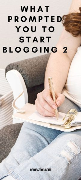 What prompted you to start blogging