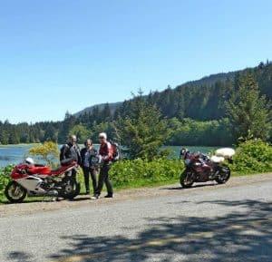 Esme on Motorbike Trip