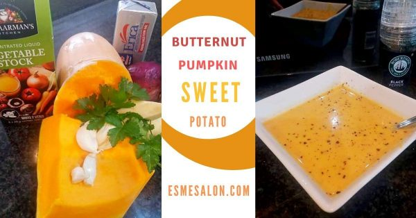 Garden Fresh Butternut Pumpkin and Sweet Potato Soup