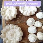 Kiddies Pavlova with Chantilly cream