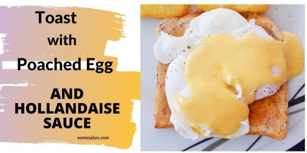 A Poached Egg on toast with Hollandaise sauce