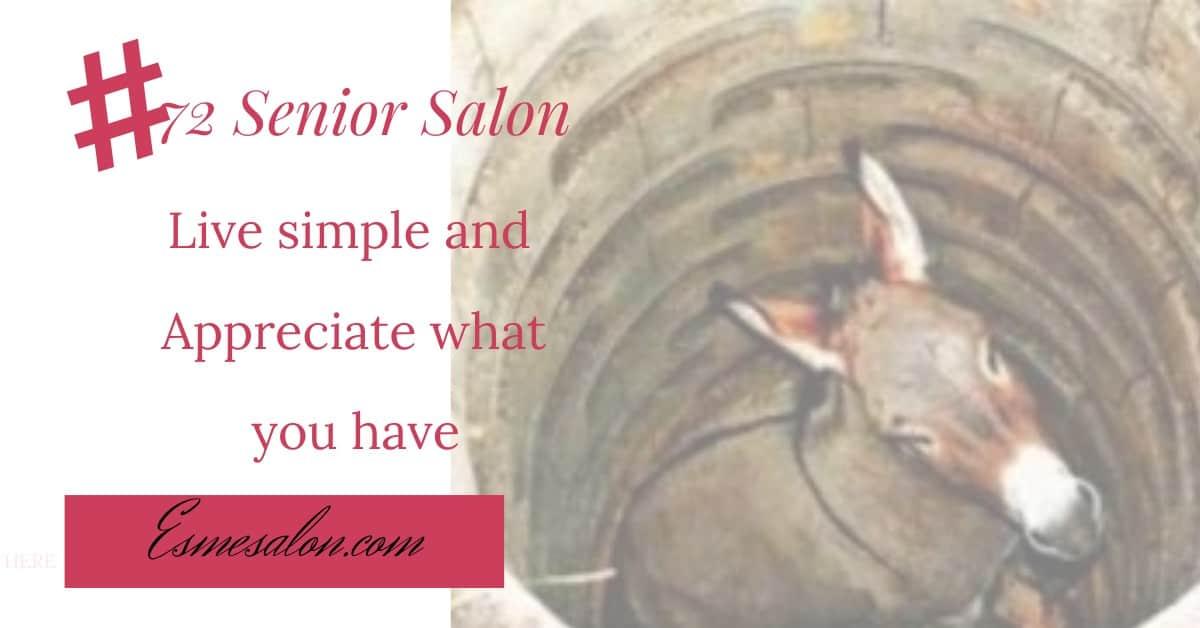 Live simple and appreciate what you have #72 Senior Salon