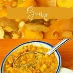 Spicy lentil soup and Belly warming