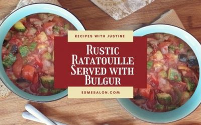 Rustic Ratatouille Served with Bulgur