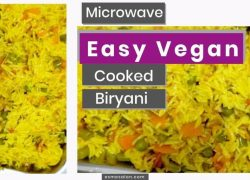 Easy Vegan Biryani Cooked In a Microwave