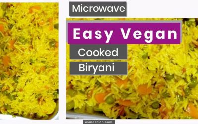 Easy Vegan Biryani Cooked In a Microwave