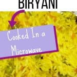 Vegan Biryan cooked in microwave