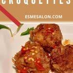 Portuguese Beef Croquettes with Skordalia/Garlic Sauce