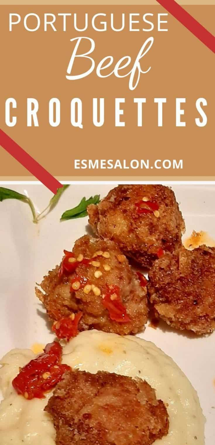 Portuguese Beef Croquettes and Skordalia