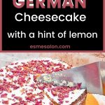German Cheesecake with a hint of lemon
