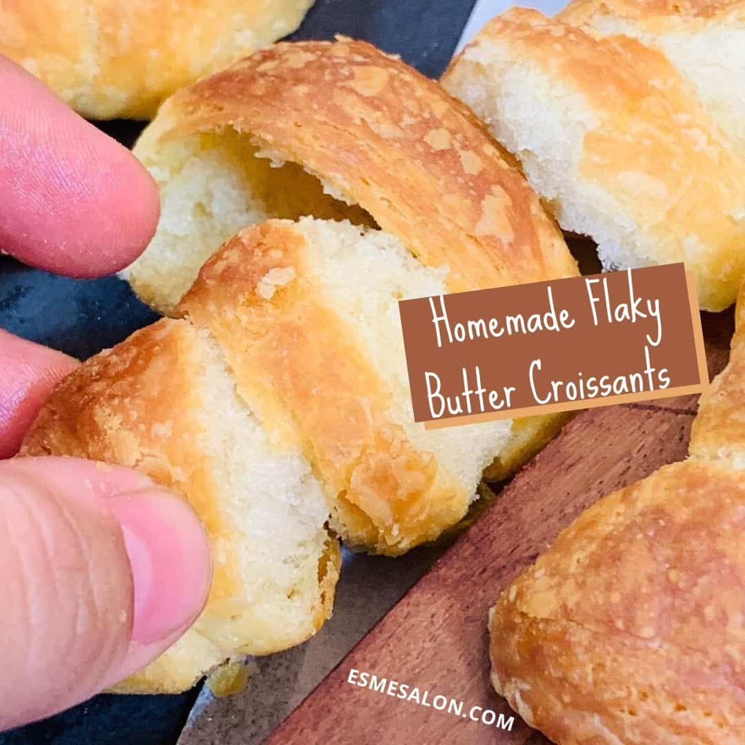 Homemade Flaky Butter Croissants