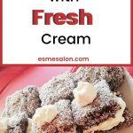 Lamingtons with Fresh Cream