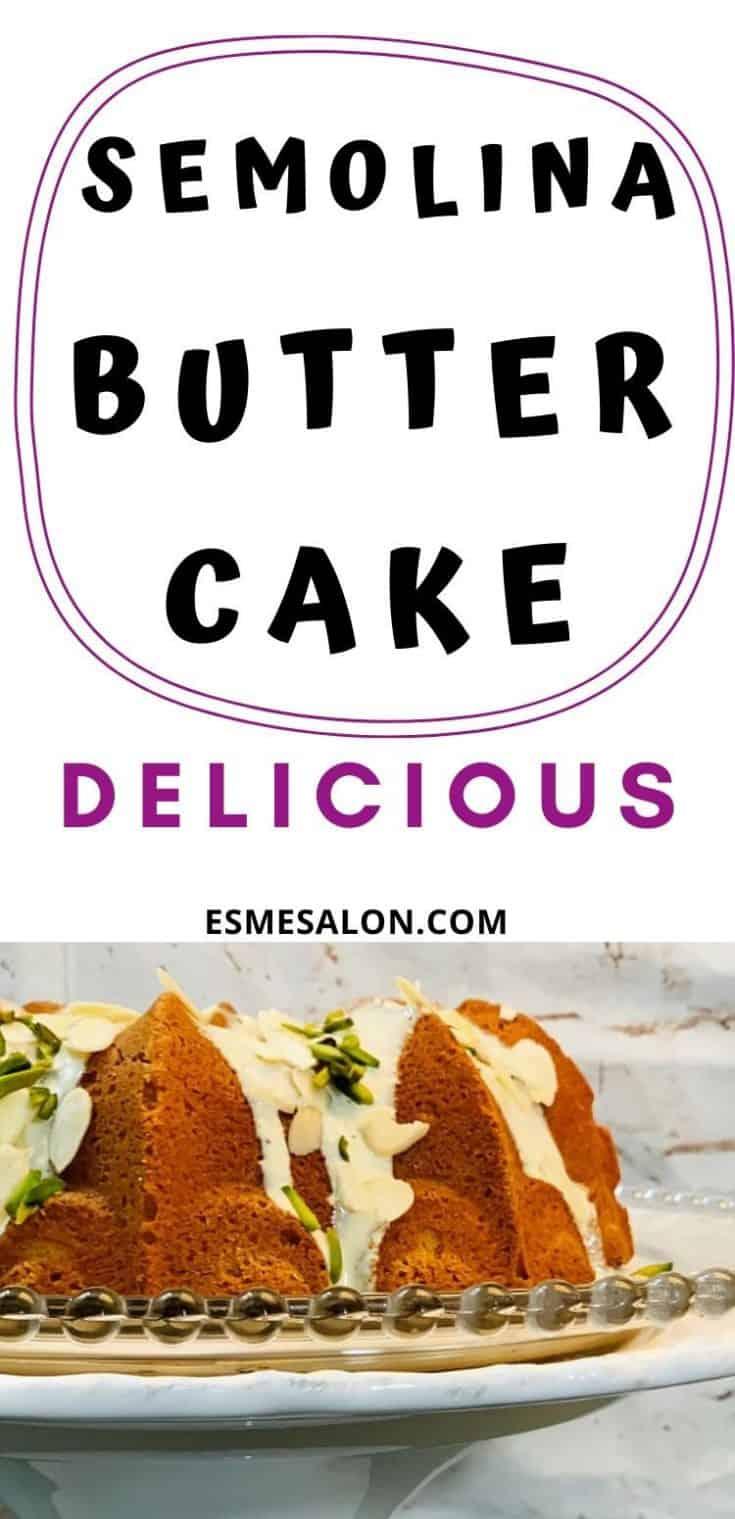 Semolina butter cake