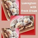 Sponge Cake lamingtons with Cream