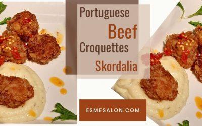 Portuguese Beef Croquettes and Skordalia