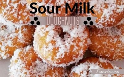 Homemade Mini Sour Milk Doughnuts