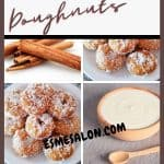 Homemade Mini Sour Milk Doughnuts with desiccated coconut