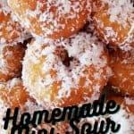 Delicious Homemade Mini Sour Milk Doughnuts