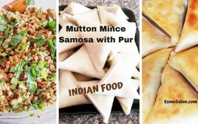 Mutton Mince Samosa with Pur