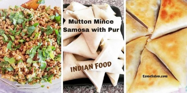 Samosas with home-made Pur