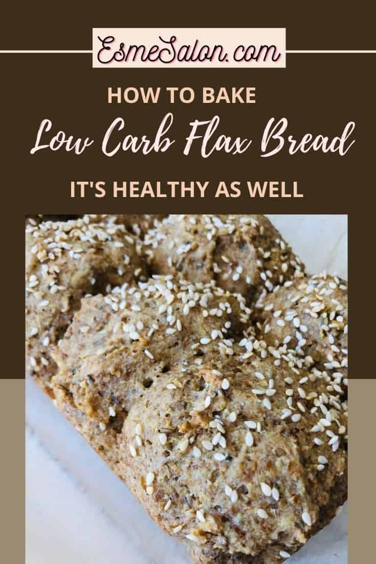 Pull Apart Low Carb Flax Bread with sesame seed topping