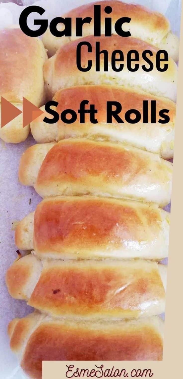 Super Soft Garlic Cheese Milk Rolls