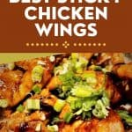 Best Ever Sticky Chicken Wings Salad Bread