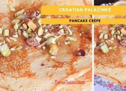 Delicious Croatian Palačinke Pancake Crêpe