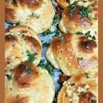 Yummy Garlic Knots with lots Parsley Bread