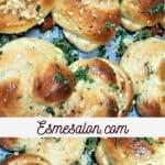 Garlic Knots with Parsley Bread