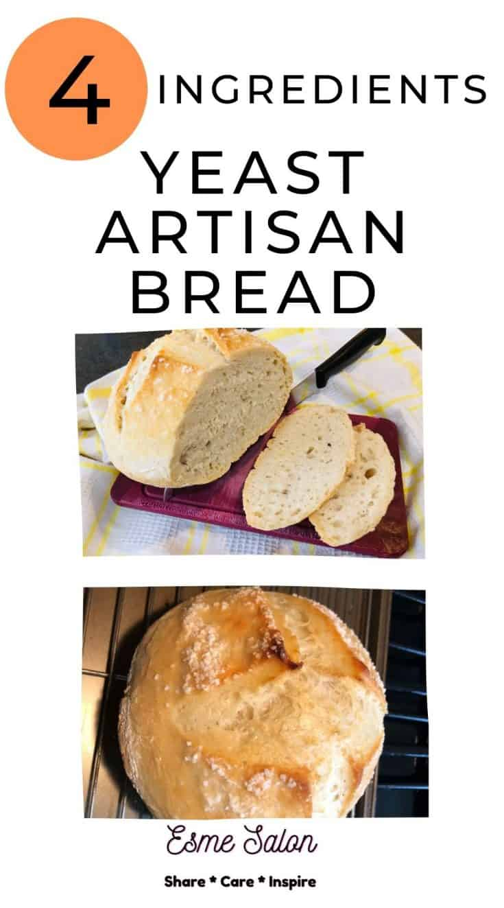4 Ingredient Yeast Artisan Bread