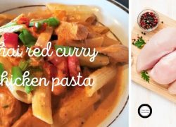 Delicious Thai Red Curry Chicken Pasta