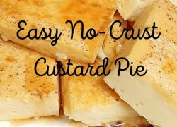 Easy No-Crust Custard Pie