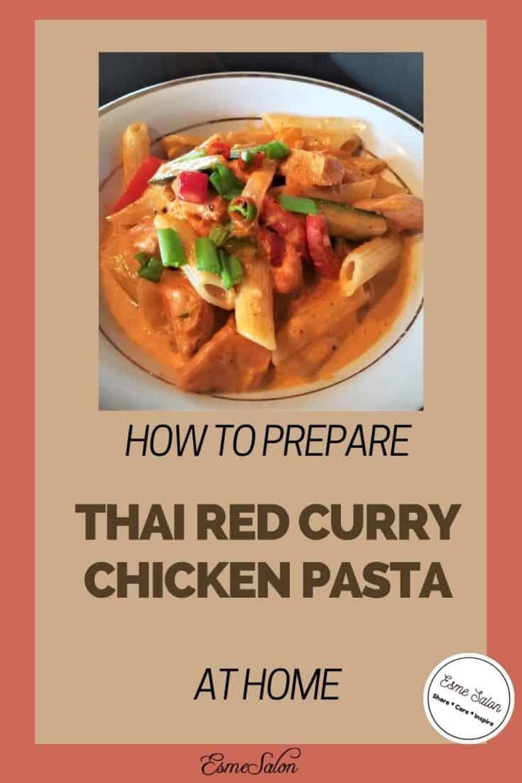 Thai Red Curry Chicken Pasta