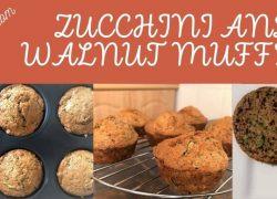 12 Awesome Zucchini and walnut muffins