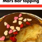 15 Minute Baked Cheesecake with mars Bar topping