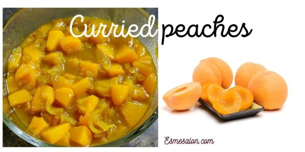 The best and easiest Curried peaches