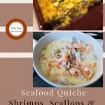 Seafood Quiche Shrimp Scallops and Clams