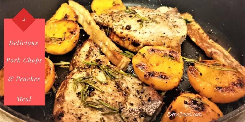 Super Easy Pork Chops & Peaches Dish