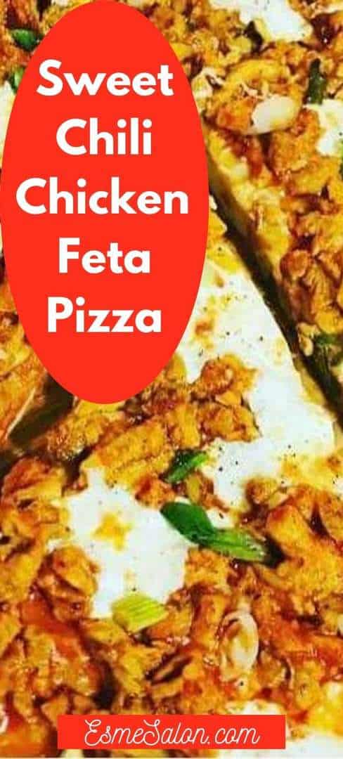 Sliced Sweet Chili Chicken Peppadews Feta Pizzas
