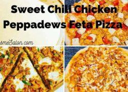 South African Sweet Chili Chicken Peppadews Feta Pizza
