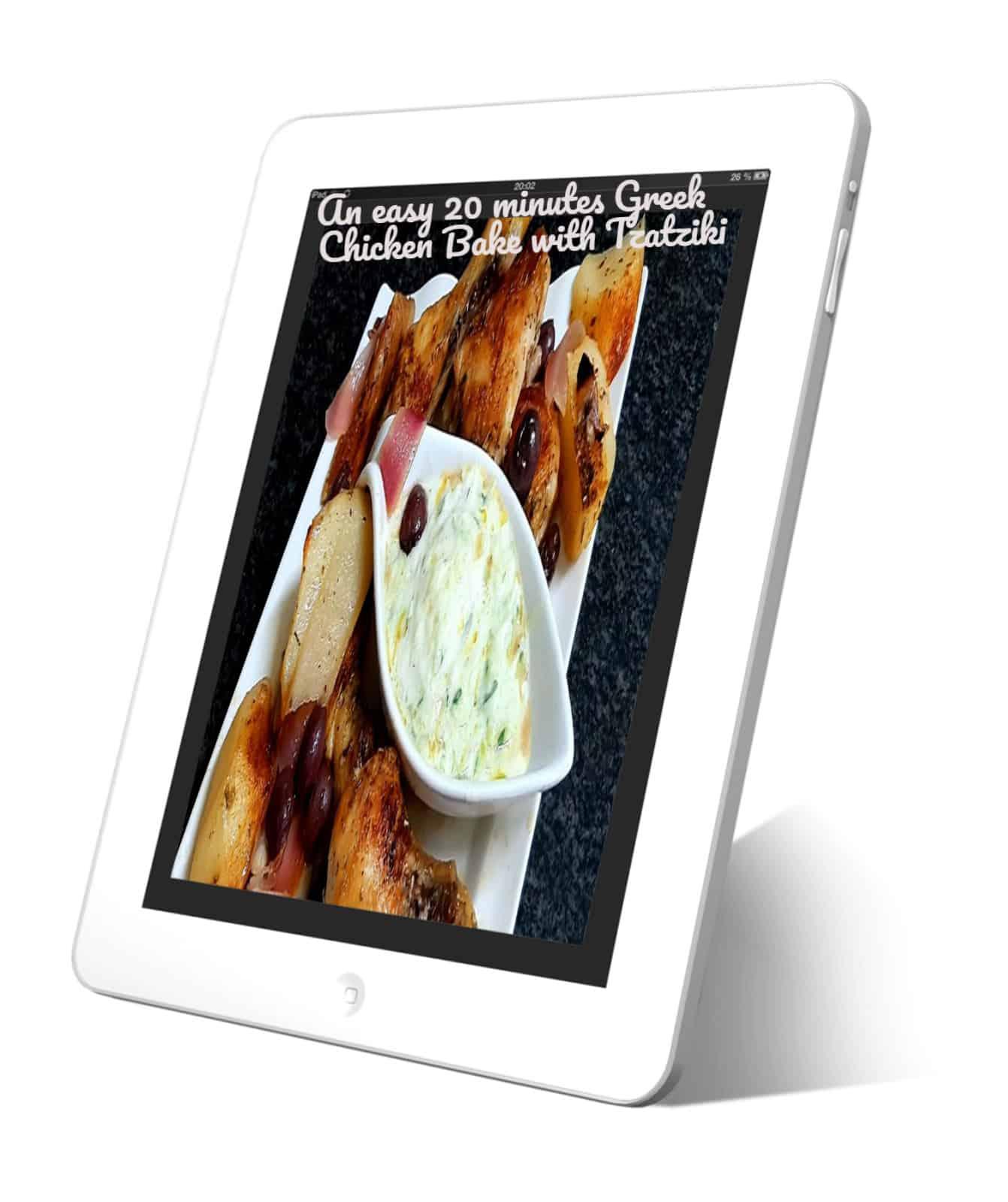 Greek Chicken Bake Tzatziki